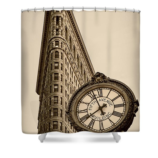 Shower Curtain featuring the photograph New York Flatiron by Juergen Held