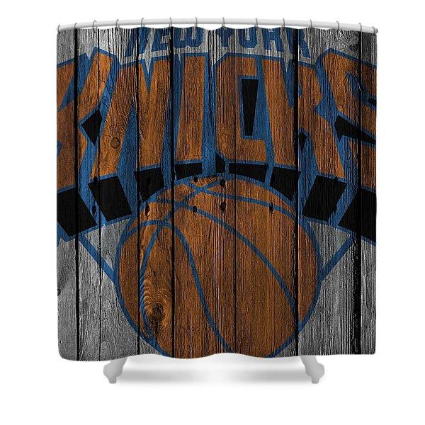 New York Knicks Wood Fence Shower Curtain