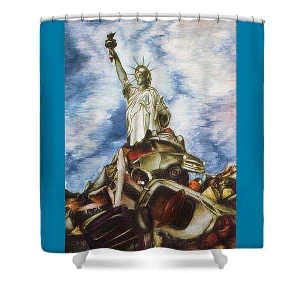 New York Liberty 77 - Fantasy Art Painting Shower Curtain