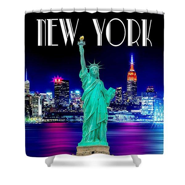 New York Shines Shower Curtain