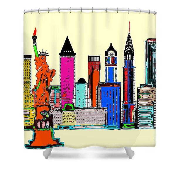New York - The Big City Shower Curtain