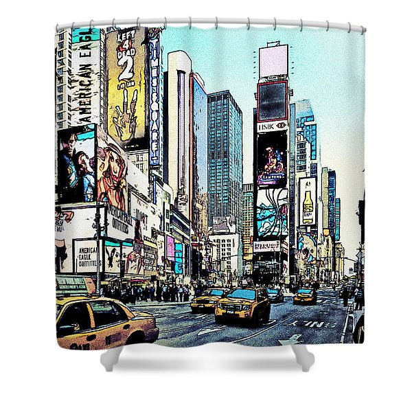 New York Times Square Shower Curtain