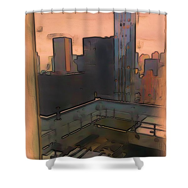 Shower Curtain featuring the digital art New York by Tristan Armstrong