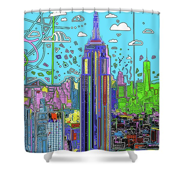 New York Urban Colors Shower Curtain