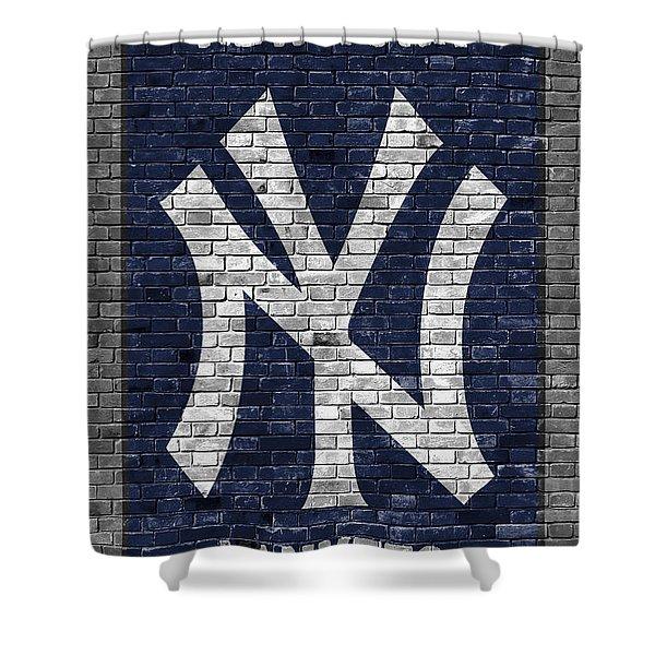 New York Yankees Brick Wall Shower Curtain