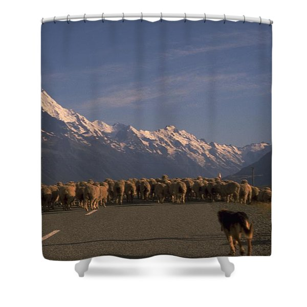 New Zealand Mt Cook Shower Curtain