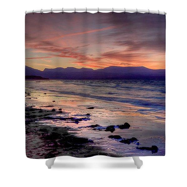 Newborough Sunrise Shower Curtain