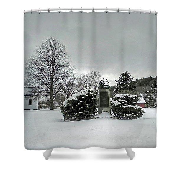 Newbury Lower Green Shower Curtain