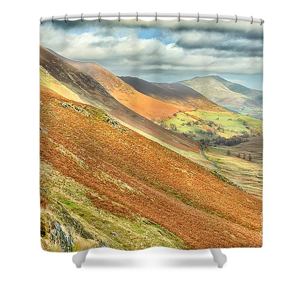 Newlands Valley Cumbria Shower Curtain