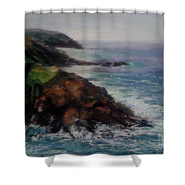 Newlyn Cliffs 2 Shower Curtain