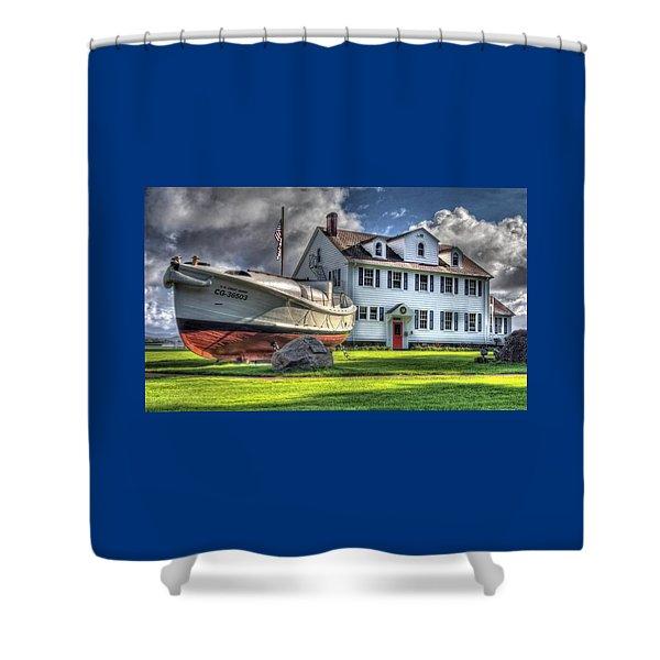 Newport Coast Guard Station Shower Curtain