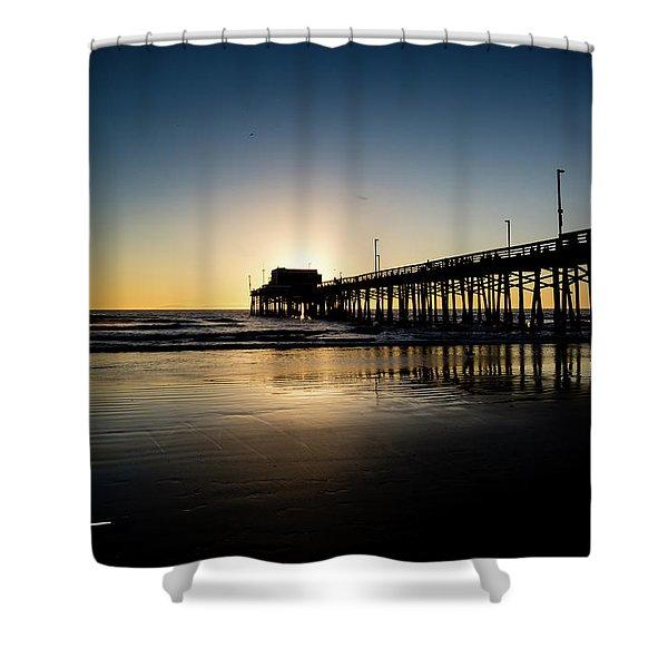 Newport Pier Shower Curtain
