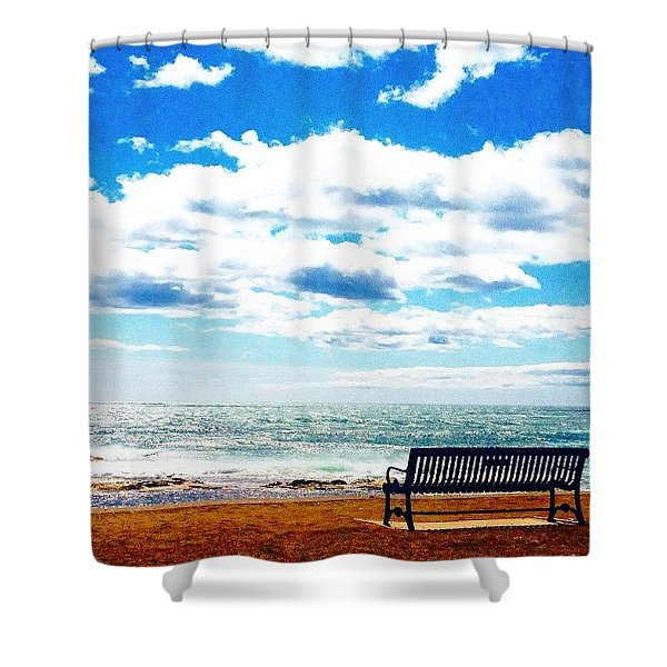 Thinking Spot  Shower Curtain