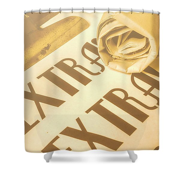 News In Detail Shower Curtain