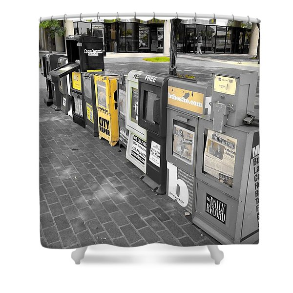Newspaper Boxes Shower Curtain