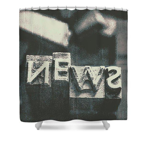 Newspaper Printing Press Art Shower Curtain