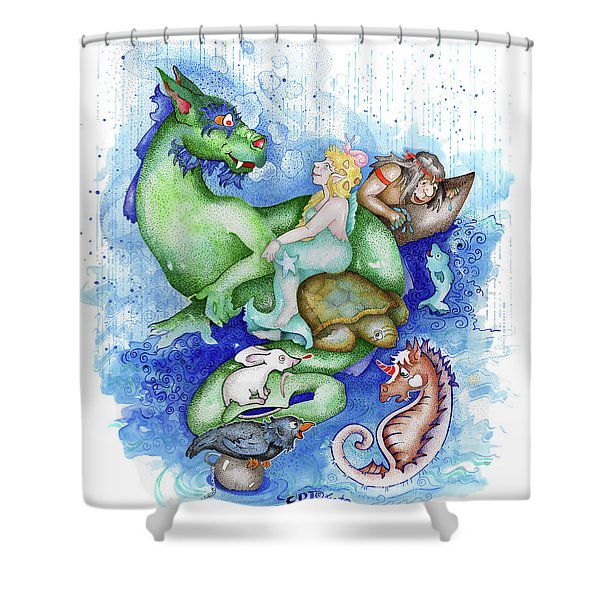 Real Fake News Foto Newz Submerged  Shower Curtain