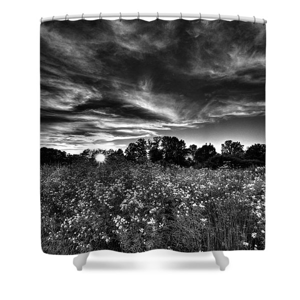 Nice And Cloudy At Sunset Shower Curtain