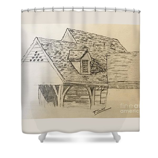 Nice Lines Shower Curtain