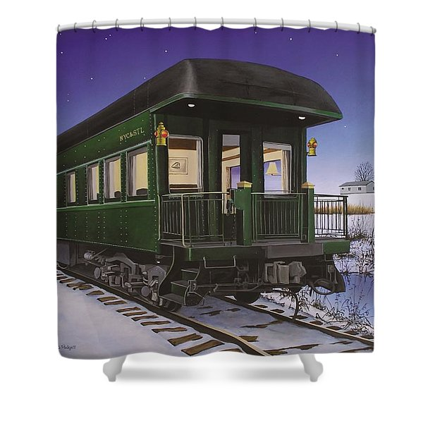 Nickel Plate 1 Shower Curtain