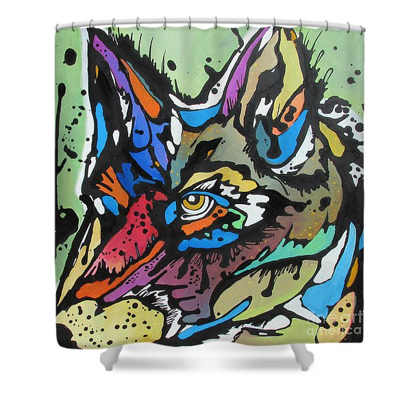 Nico The Coyote Shower Curtain