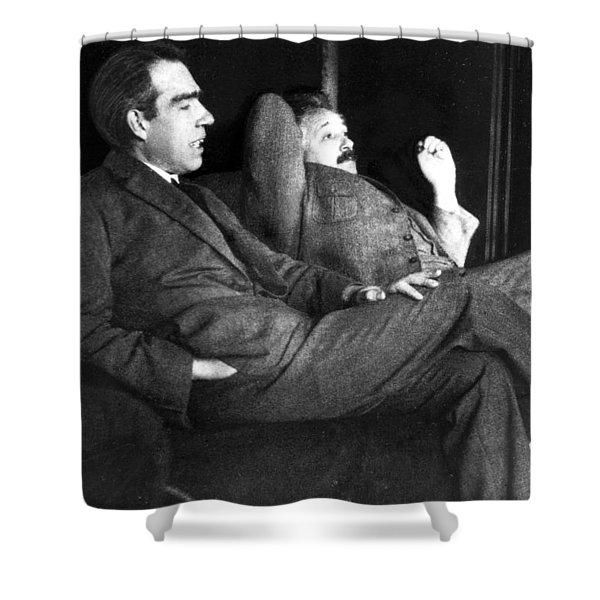 Niels Bohr And Albert Einstein Shower Curtain