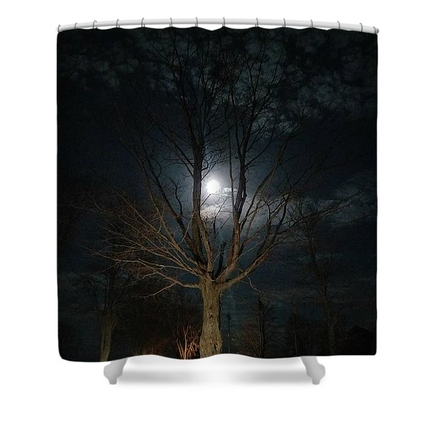 Night At The Graveyard Shower Curtain