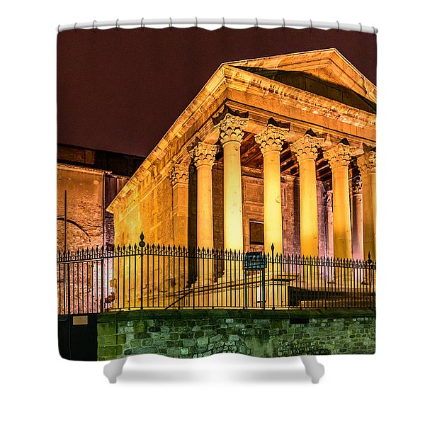 Night At The Roman Temple Shower Curtain