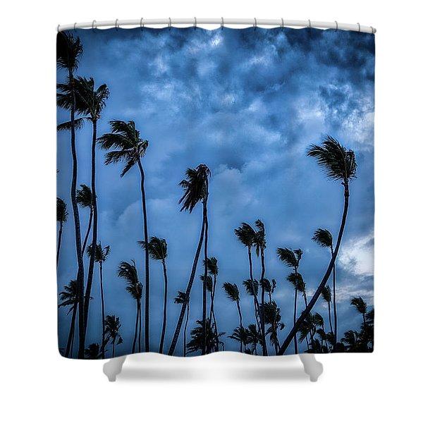 Night Beach Shower Curtain