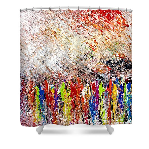 Night Covers Us Shower Curtain