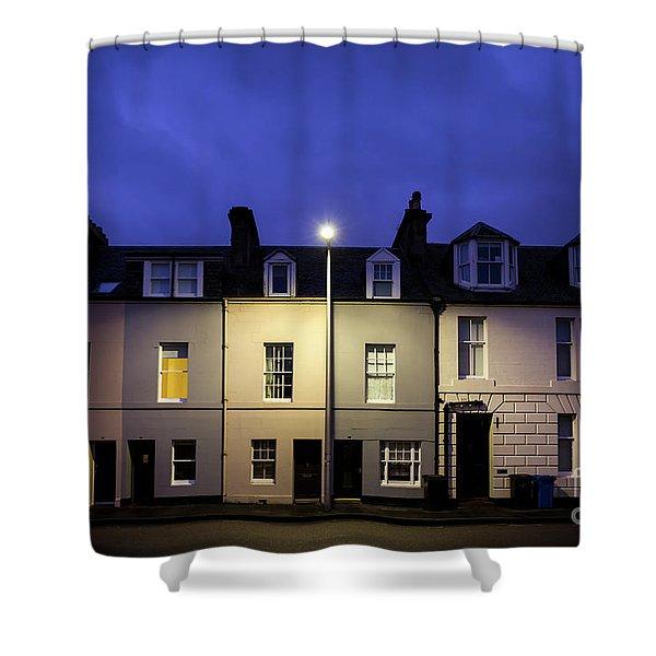 Night Darkens The Street Shower Curtain