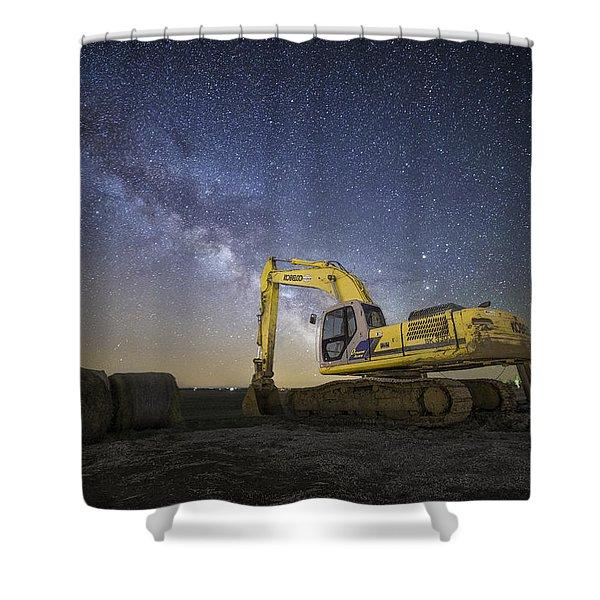 Night Excavation  Shower Curtain