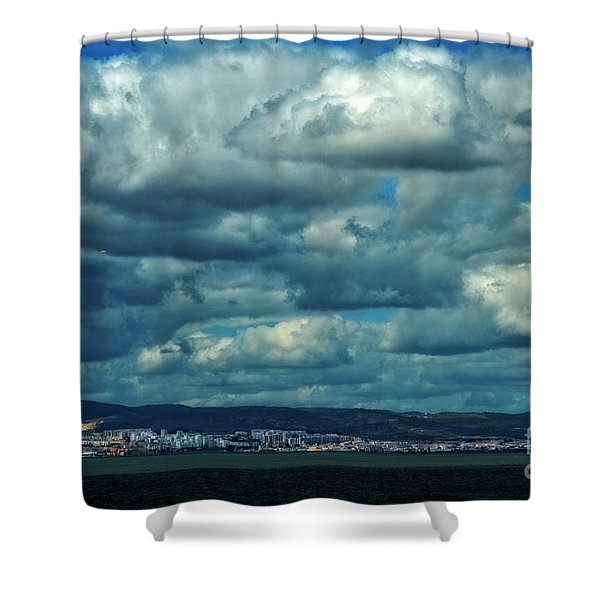 Night Falls On The Tagus River - Portugal Shower Curtain