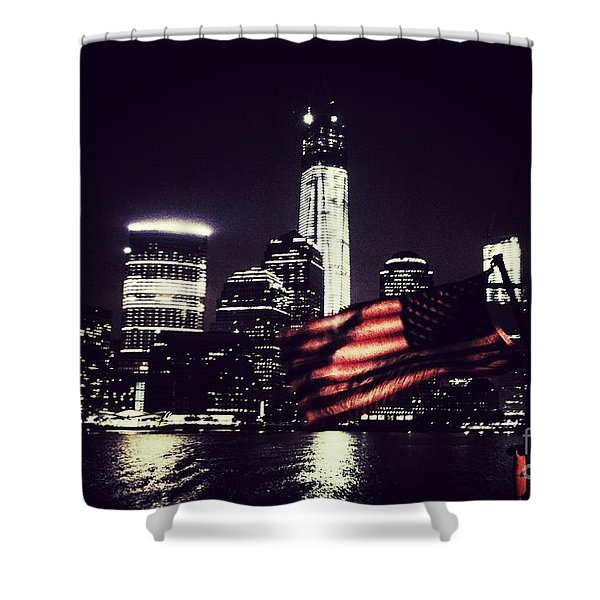 Night Flag Shower Curtain