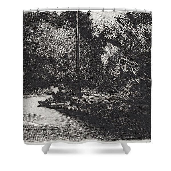 Night In The Park Shower Curtain