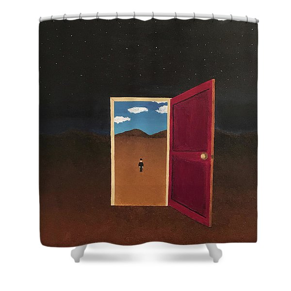 Night Into Day Shower Curtain
