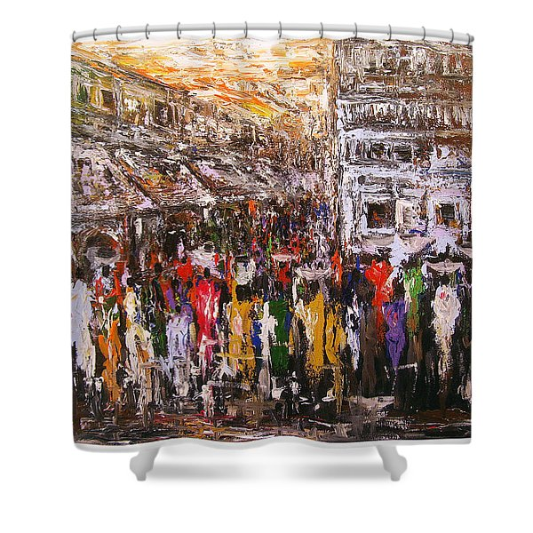 Night Market Shower Curtain