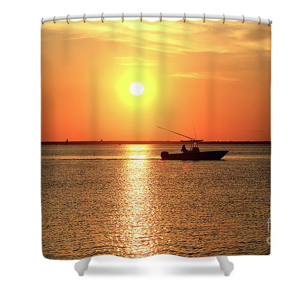 Night Moves At Long Beach Island Shower Curtain