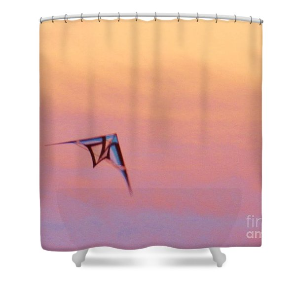 Night Night Kite Shower Curtain