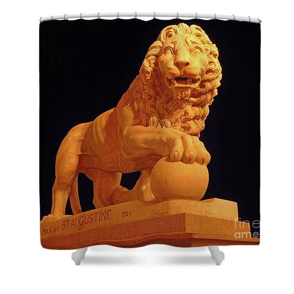 Night Of The Lion Shower Curtain