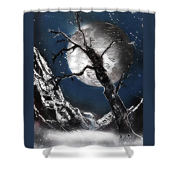 Night Of Wolves Shower Curtain