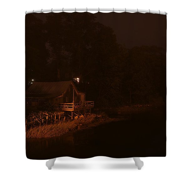 Night On The River Shower Curtain