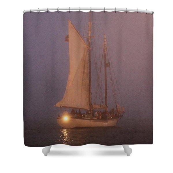 Night Passage Shower Curtain