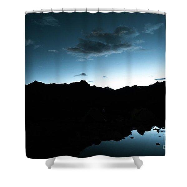Night Sky Himalayas Tibet Yantra.lv Shower Curtain