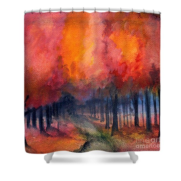 Night Time Among The Maples Shower Curtain