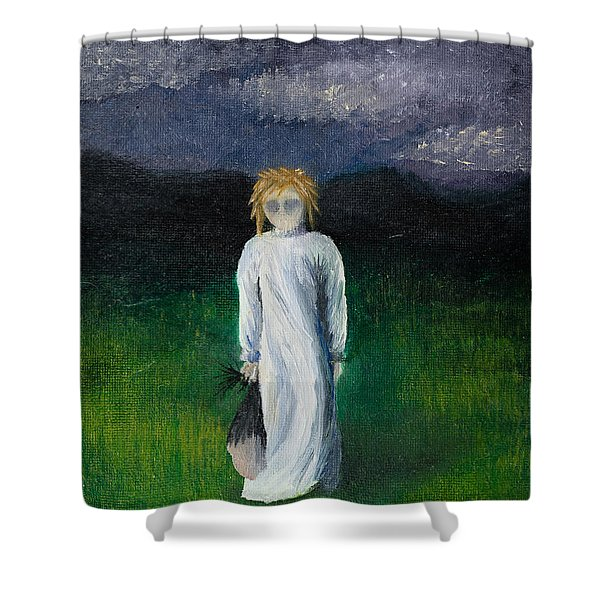 Shower Curtain featuring the painting Night Walk by Break The Silhouette