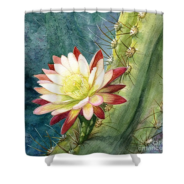 Nightblooming Cereus Cactus Shower Curtain