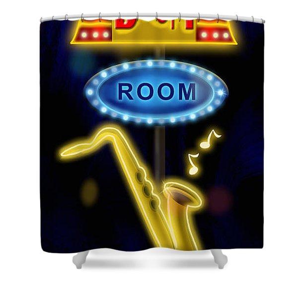 Nightclub Sign Boom Boom Room Shower Curtain