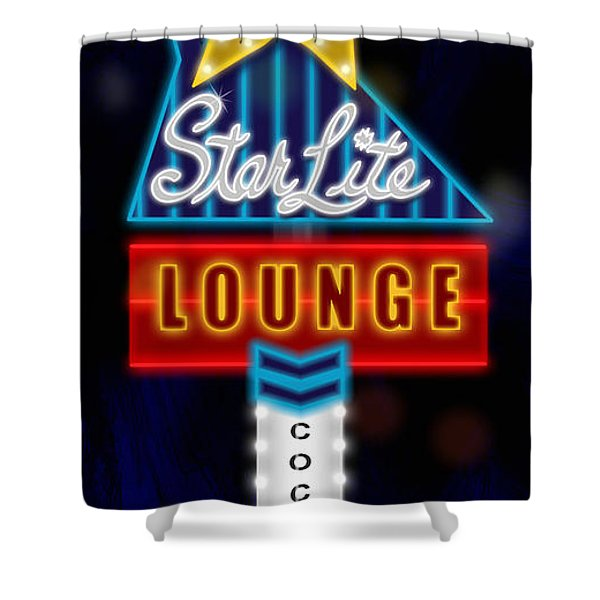Nightclub Sign Starlite Lounge Shower Curtain