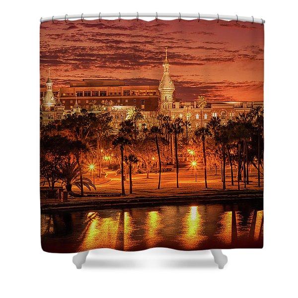 Nightfall In Tampa Shower Curtain